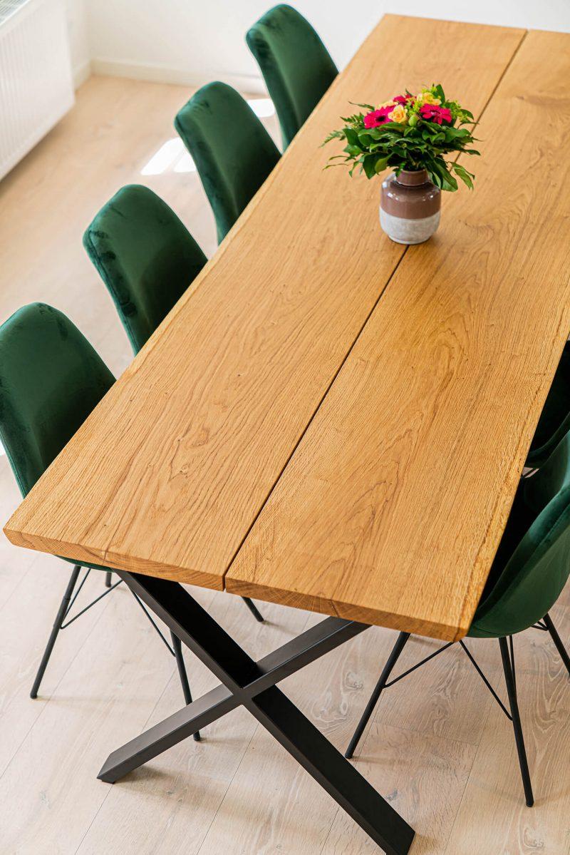 plankebord i natur olieret eg