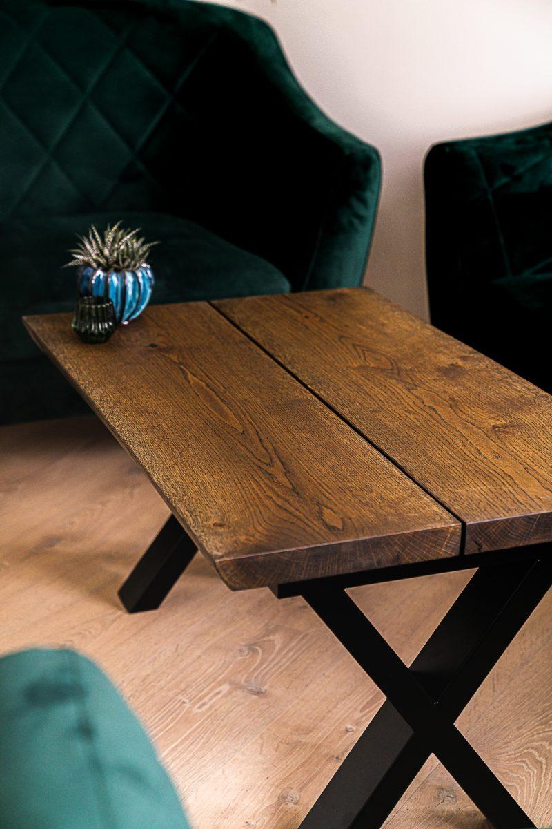 ravna planke sofabord mørk eg