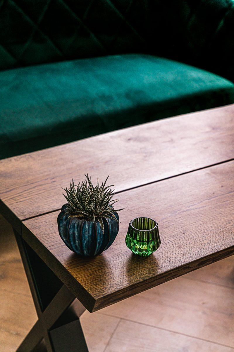 Ravna rustik sofabord mørk eg